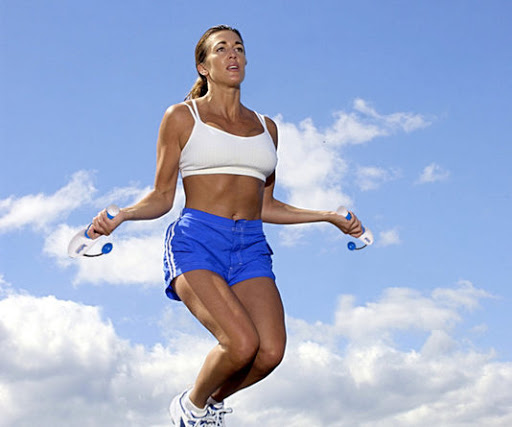 girl jumping with cordless jump rope